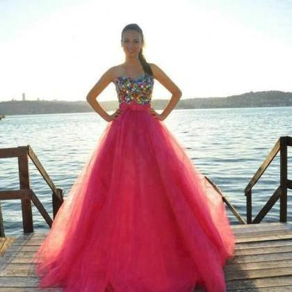 Colorful Crystals Prom Dress , 2016..