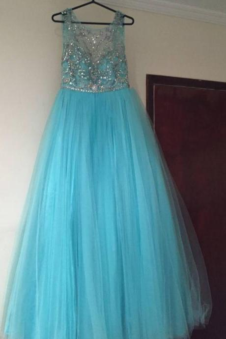Prom Dress , Soft Tulle Prom Dress , Shiny Prom Dress , Long Dress , Elegant Prom Dress , Long Dress , A-Line Dress , Free Custom Made Dress