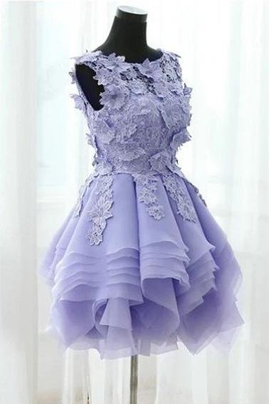 Lace Prom Dress , Cute Prom Dress , Bubble Prom Dress , Short Prom Dress , Beautiful Prom Dress , Free Custom Made Prom Dress