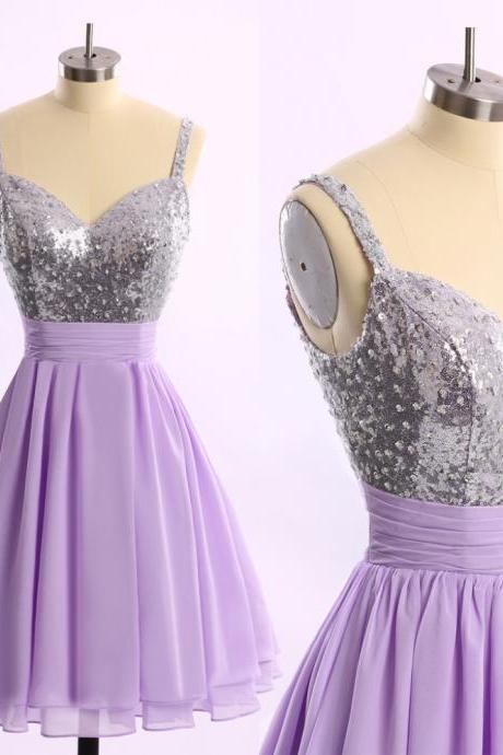 Cheap Dress , Homecoming Dress , Prom Dress , Sequin Homecoming Dress , Purple Prom Dress , Cocktail Dress , Free Custom Made Girl Dress