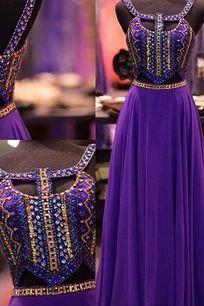 Prom Dress , Purple Prom Dress , Stunning Prom Dress , Gold and Purple Beading Prom Dress , Sexy Prom Dress , Long Prom Dress , Custom Made Prom Dress