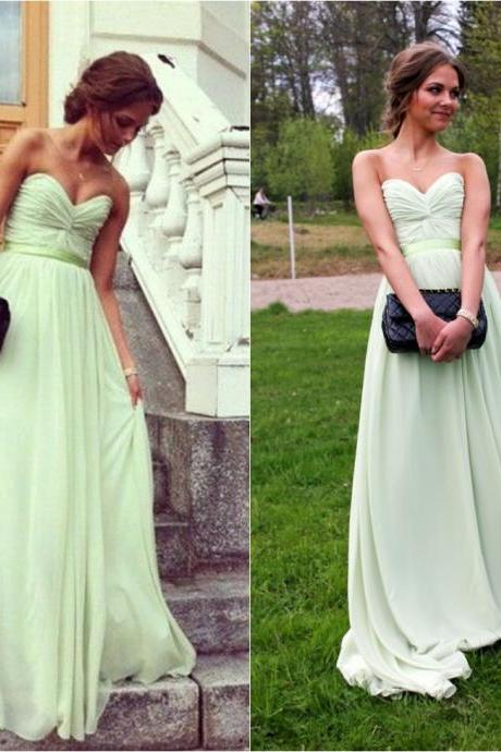 Mint Green Prom Dresses , Prom Dresses , Sweetheart A-line Prom Dresses , Classic Bridesmaid Dresses , Custom Made Prom Dresses