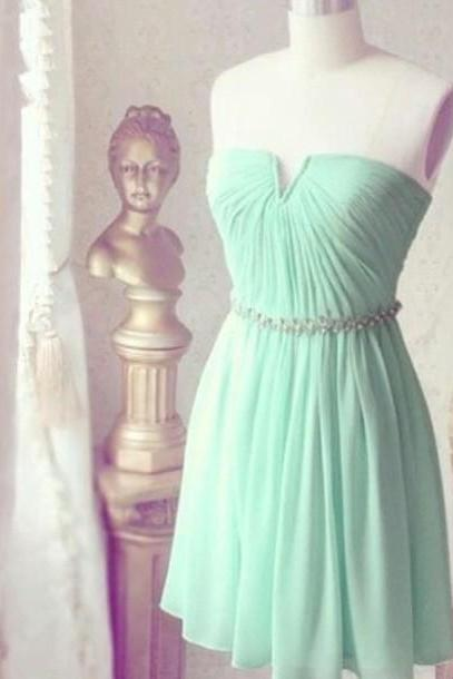 Mint Green Dress , Short Bridesmaids Dress , Cute Dress , New Bridesmaids Dress , Free Custom Made Dresses